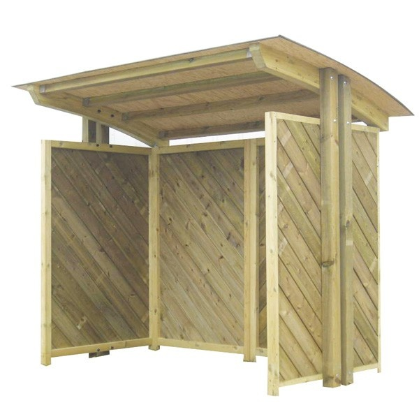agora collectivit s abri bus bois toiture cintr e. Black Bedroom Furniture Sets. Home Design Ideas