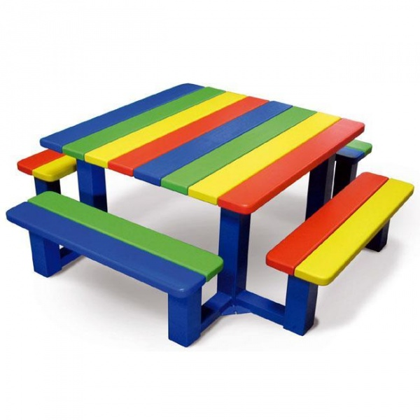 Agora collectivit s table pique nique pour enfants for Table de jardin pliante plastique